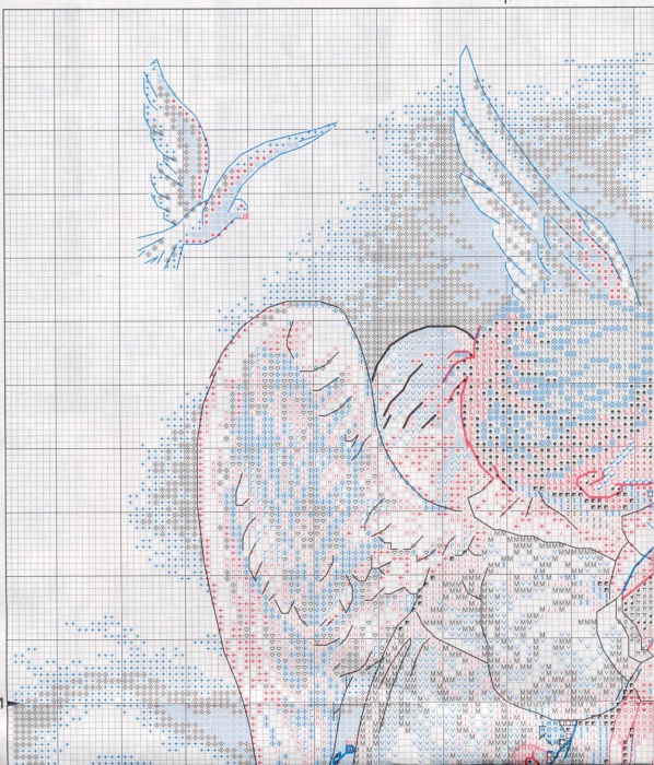 Звездный ангел схема вышивки крестом 91