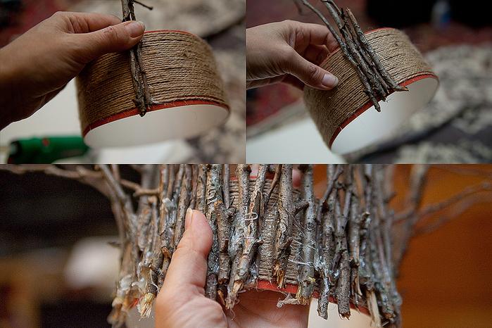 Лицо из веток дерева своими руками 90