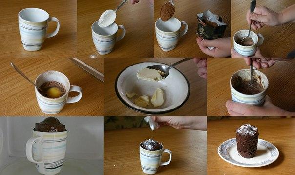 Как сделать кекс в кружке за 5