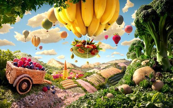 Карл Уорнер. «Мир еды» (пейзажи из съедобных продуктов)