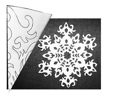 Рисунок для снежинок своими руками