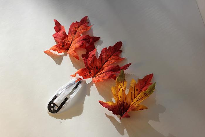 Осенняя заколка своими руками. Обсуждение на LiveInternet - Российский Сервис Онлайн-Дневников