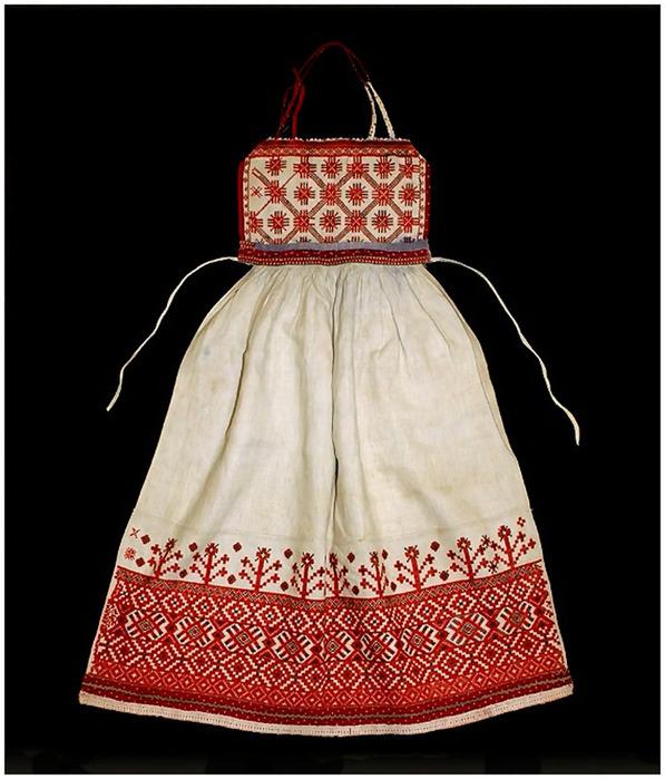 Русский фартук вышивка