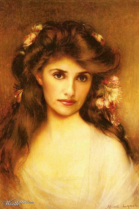 Юная красавица с цветами в волосах (465x700, 264Kb)