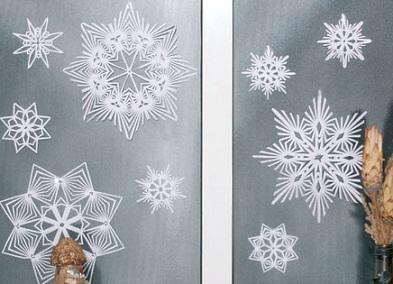 Чтобы сделать такие снежинки вам