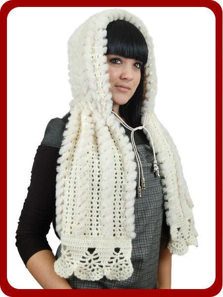 Вязание на спицах капюшон-воротник
