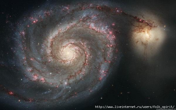 M51 (Мессье 51, NGC 5194) (600x375, 138Kb)