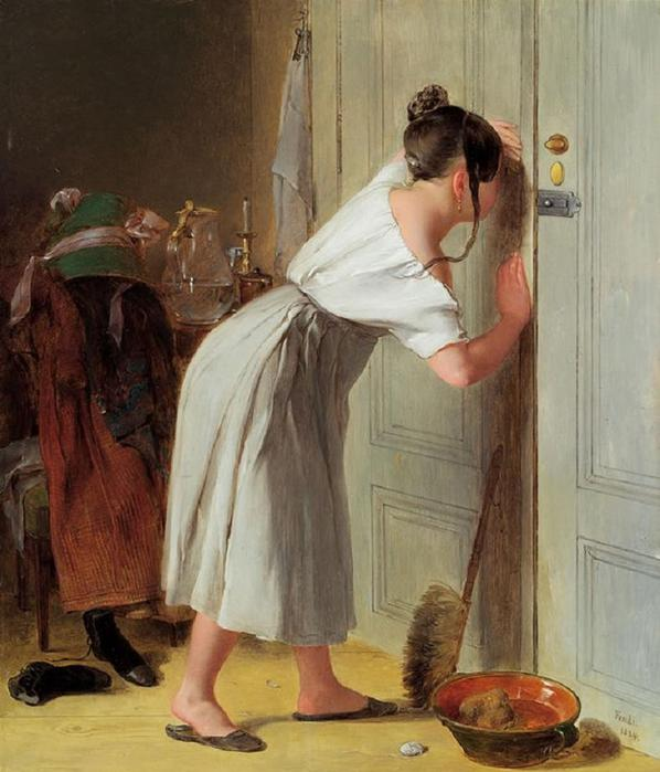 peter-fendi-sneaking-a-peek-1834 (598x700, 55Kb)