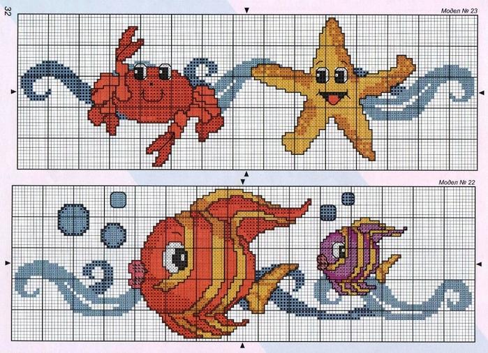 Рисунки двухцветного вязания спицами