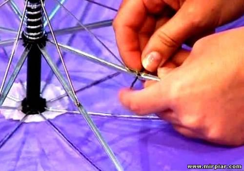 Как отремонтировать на зонтике дыра