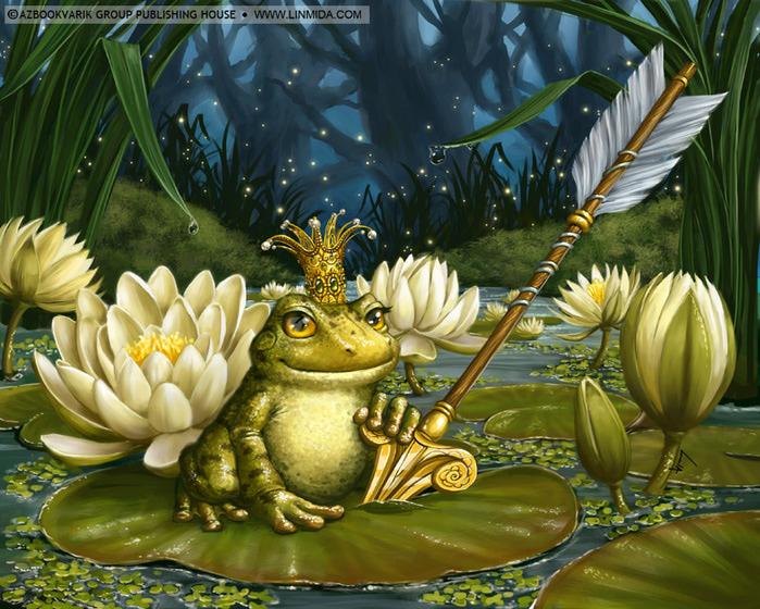 Для обложки сказки царевна лягушка