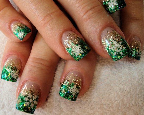 Ногти красивый дизайн фото новогодние