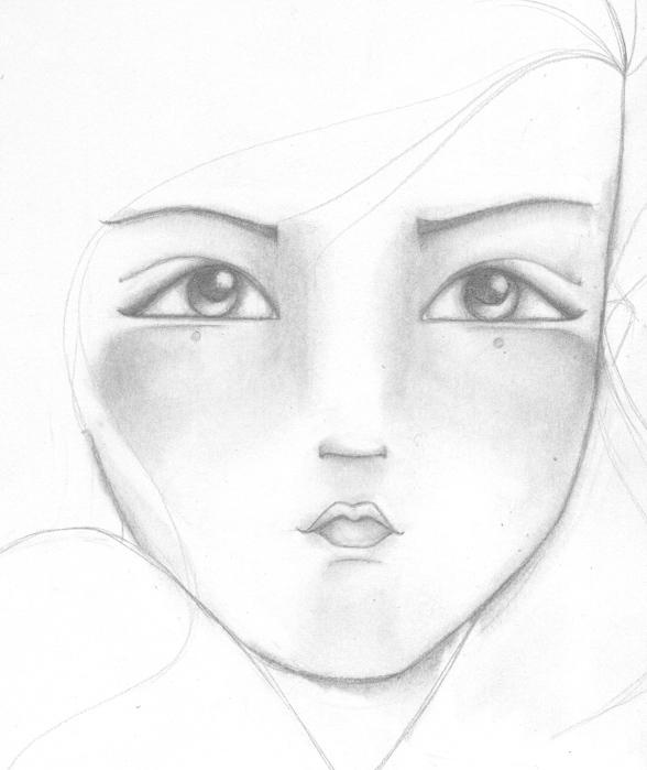visage au crayon (588x700, 121Kb)