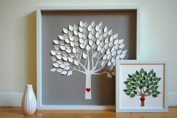 Как сделать деревья своими руками из картона