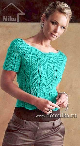 Вязание спицами женские кофточки.