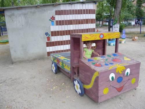 Детские площадки в саду своими руками фото