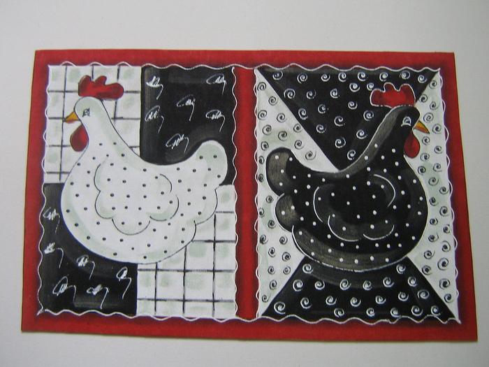 """手工拼布欣赏:""""鸡鹟"""" - maomao - 我随心动"""