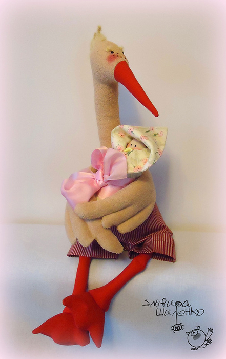 Игрушка аист своими руками из ткани