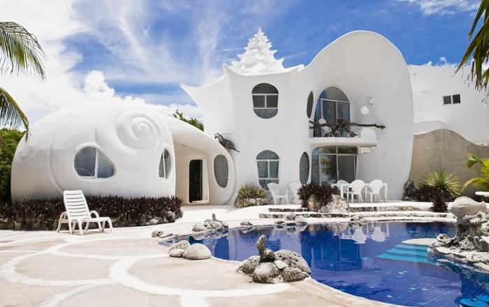 Дом ракушки в Мексике. Автор – художник-сюрреалист Октавио Окампо./3241858_ (700x440, 104Kb)