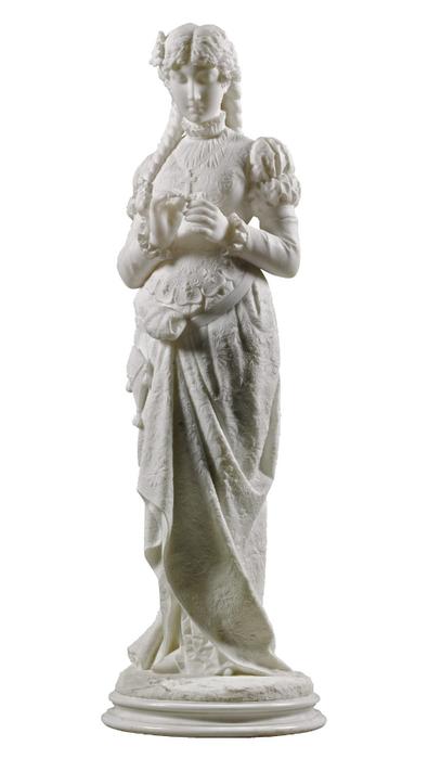Ferdinando Vichi Standing girl holding a flower (1) (395x700, 103Kb)