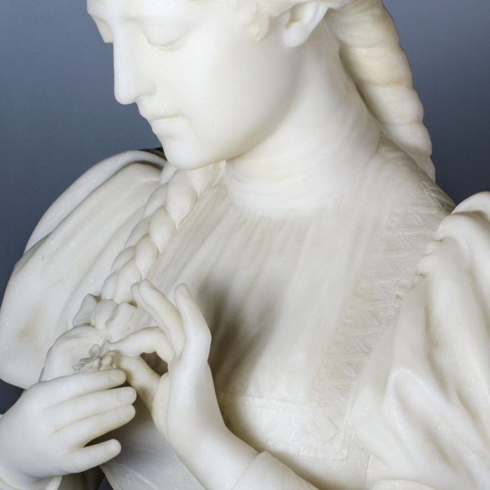 Ferdinando Vichi Standing girl holding a flower (6) (700x700, 319Kb)