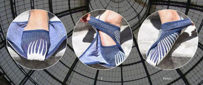 124806949 090215 1342 6 Японские дизайнеры обуви придумали кроссовки, которые оборачиваются вокруг ноги, как платки