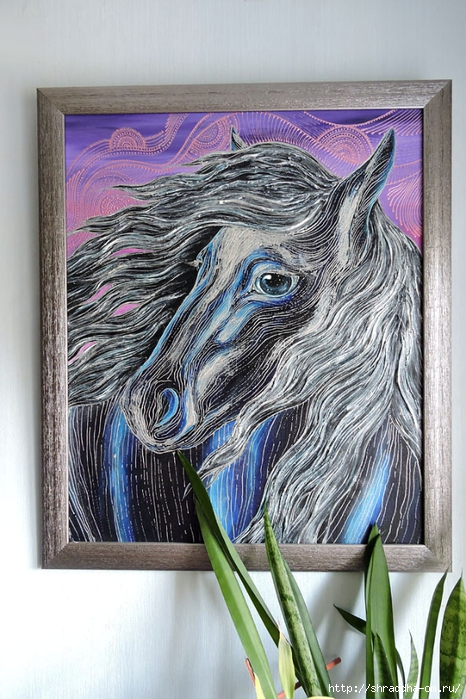 Лошадь, автор Shraddha (466x700, 315Kb)