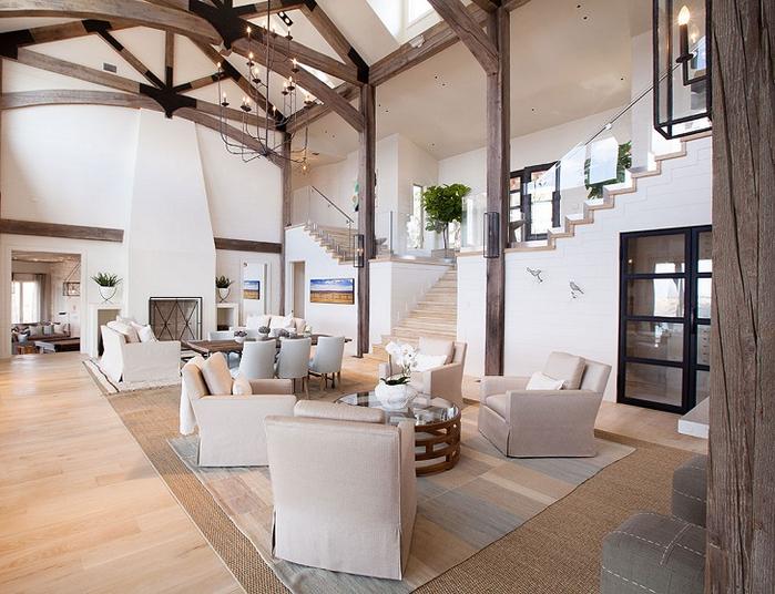 красивый дизайн интерьера большого дома 1 (700x536, 402Kb)