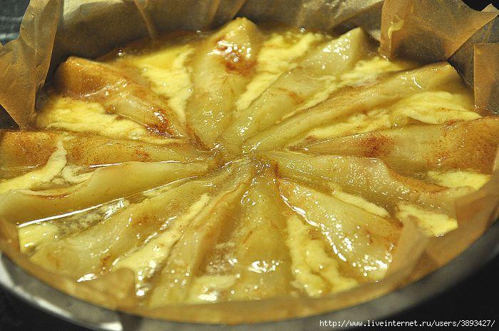 Заливной пирог с грушами в духовке пошаговый рецепт с