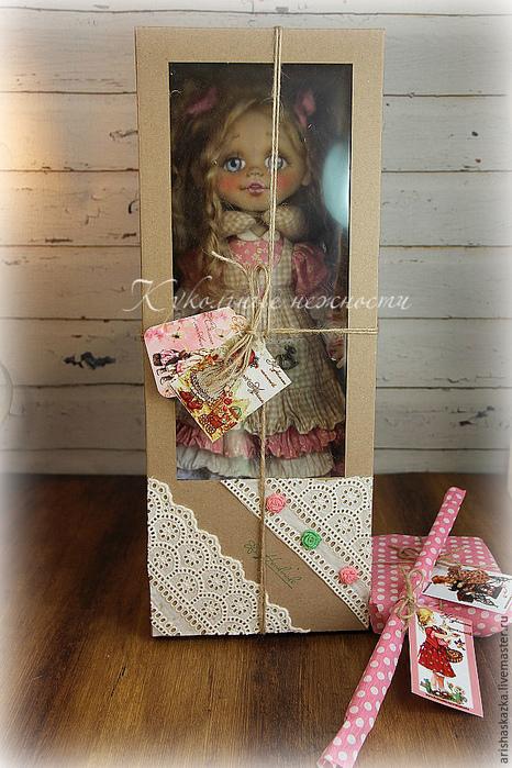 Упаковка для текстильной куклы