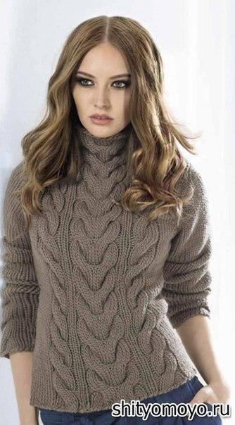 Пуловер с косами (334x604, 148Kb)