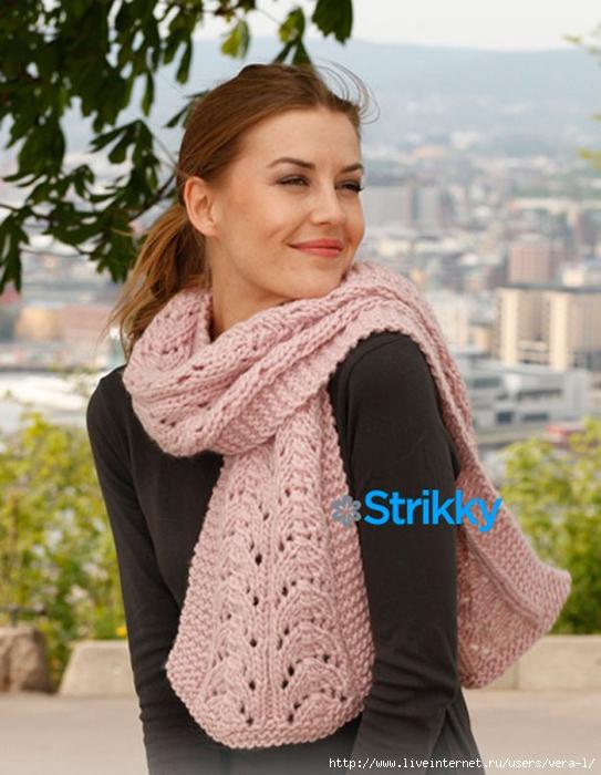 вязаный-узорчатый-шарф (543x700, 255Kb)