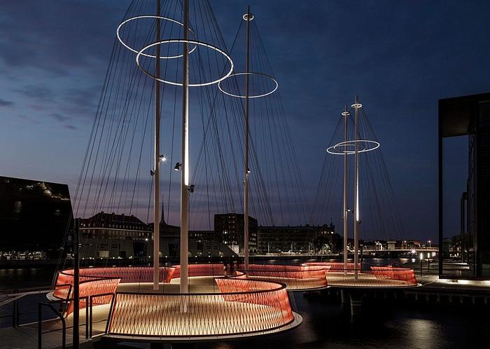 пешеходный мост в Копенгагене 1 (700x498, 385Kb)