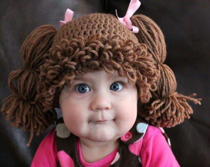 вязаная шапочка для девочки Cabbage Patch Kids