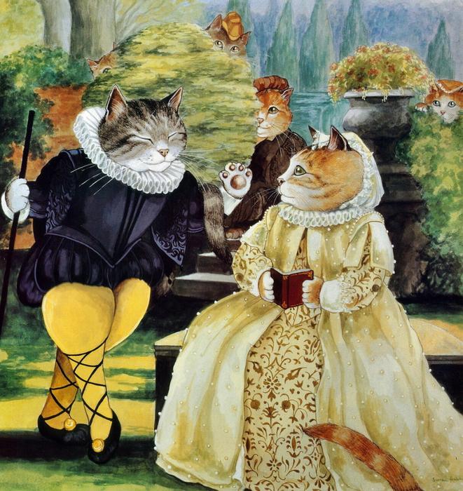 2. Мальволио и графиня Оливия. «Двенадцатая ночь» (661x700, 641Kb)