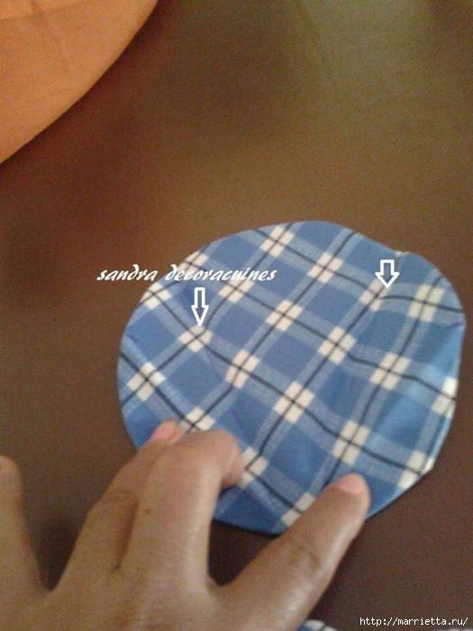 Лоскутное шитье. Подушка с цветком (5) (525x700, 249Kb)