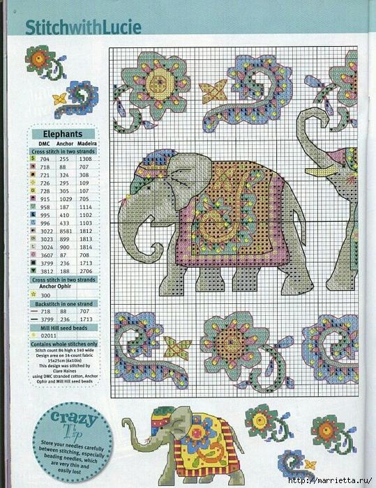 Вышивка крестом. Индийский слон (8) (539x700, 429Kb)