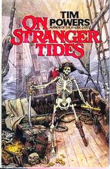 На странных волнах Тим Пауэрс Обложка книги (372x571, 245Kb)