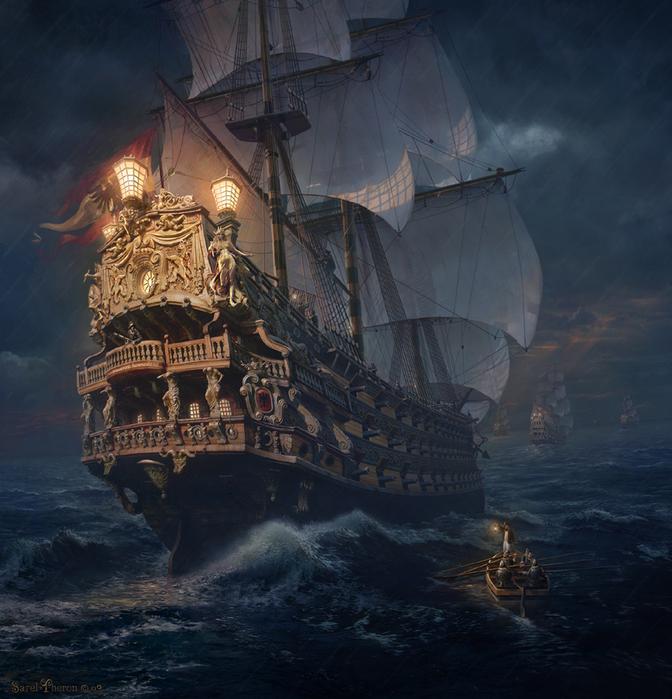 Armada Dorada by Sarel Theron (672x700, 396Kb)