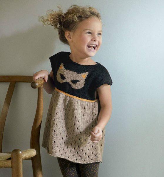 Платья вязанные на девочку 3-4 года
