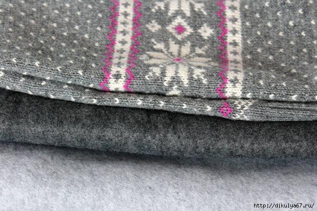 Шьем носки из старого свитера мастер класс сделай сам #7