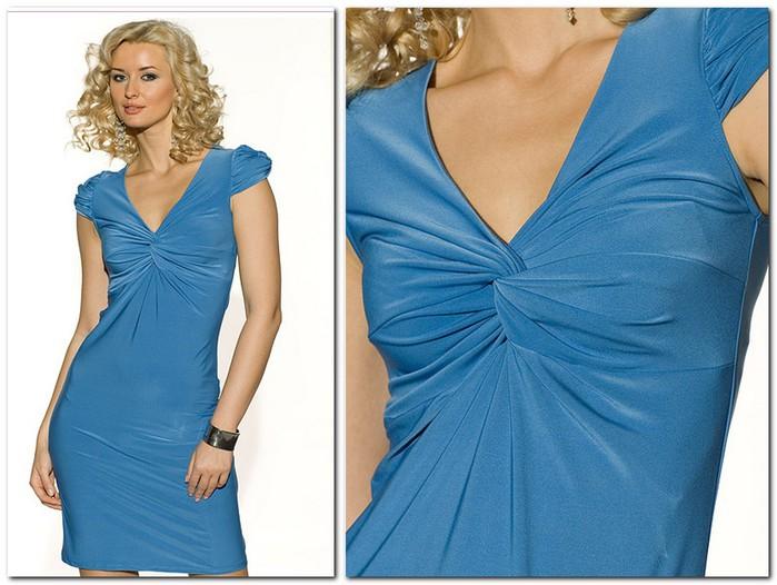 Выкройка платье с узлами