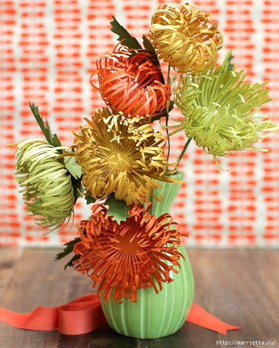 Хризантемы из цветной бумаги (2) (560x700, 349Kb)
