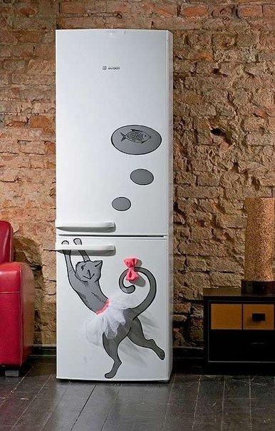 холодильник с декором (386x604, 227Kb)