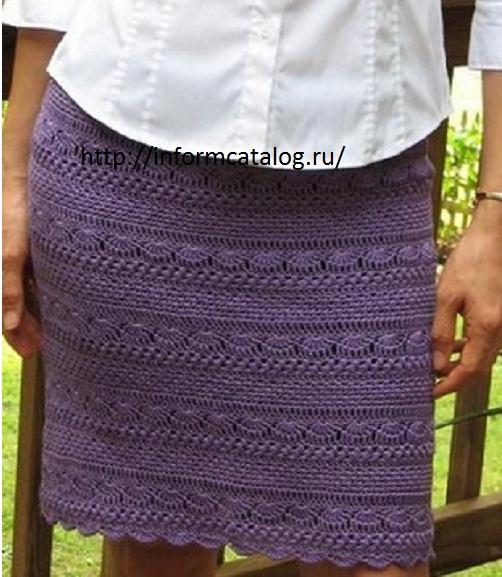 Зимняя юбка вязание крючком