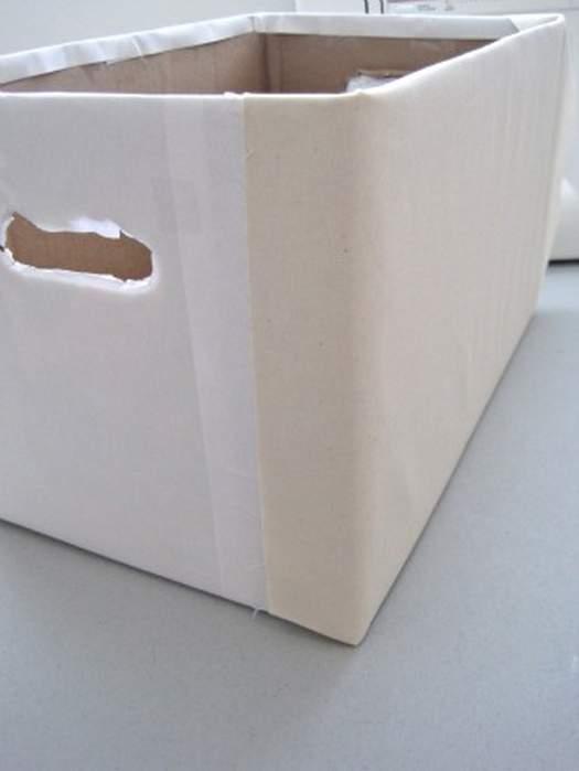 Коробка для хранения своими руками из ткани