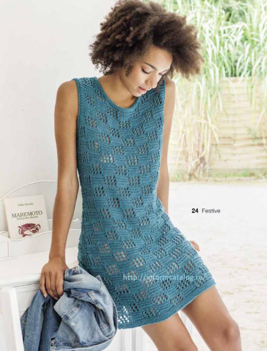 Платье вязание спицы летнее
