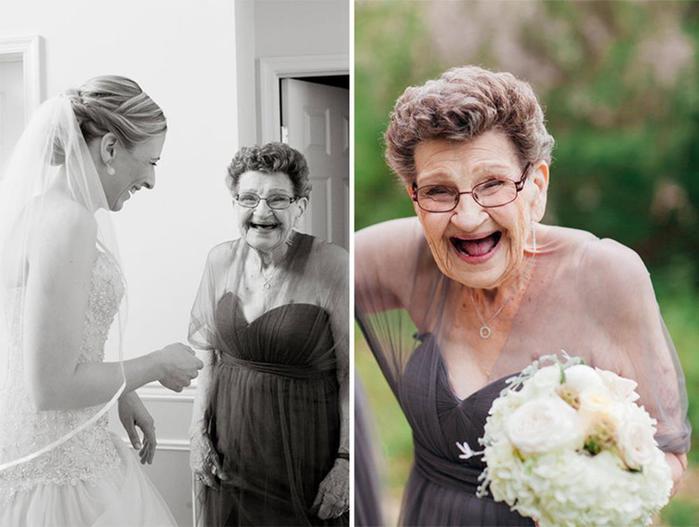 89 летняя бабушка стала подружкой невесты на свадьбе внучки 125090361 091815 0550 wedding35