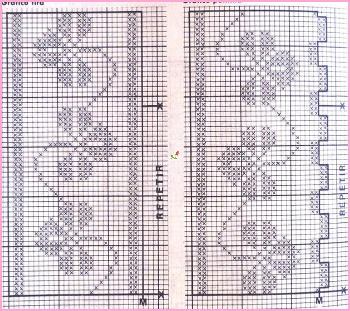 Плед тунисским вязанием схемы 67