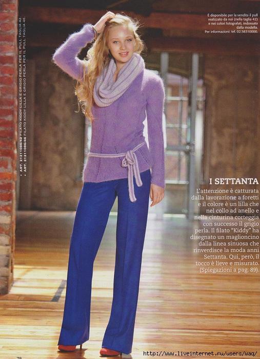Вязание свитер с воротника 5